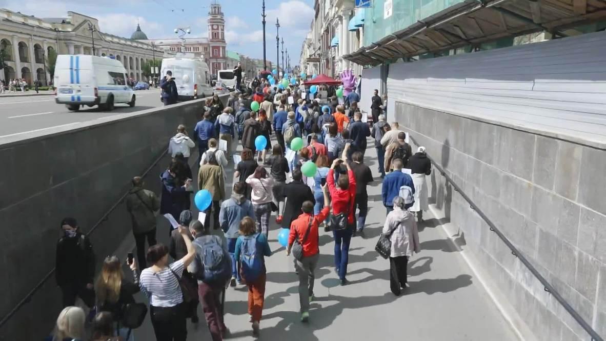Россия: В Москве и Санкт-Петербурге прошли акции солидарности с протестующими в Хабаровске