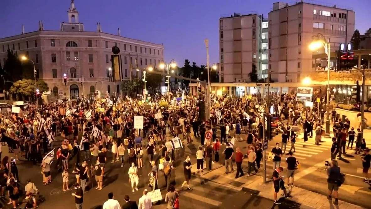 Israel: Thousands stage protest against Netanyahu in Jerusalem
