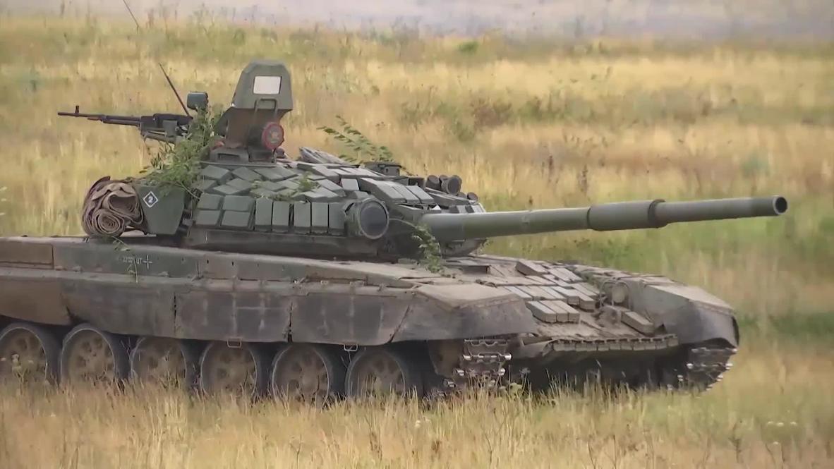 Россия: Танковые учения прошли на полигоне в Чебаркуле