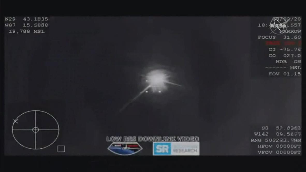 EE.UU.: La cápsula Space X Crew Dragon aterriza frente a las costas de Florida con dos astronautas a bordo