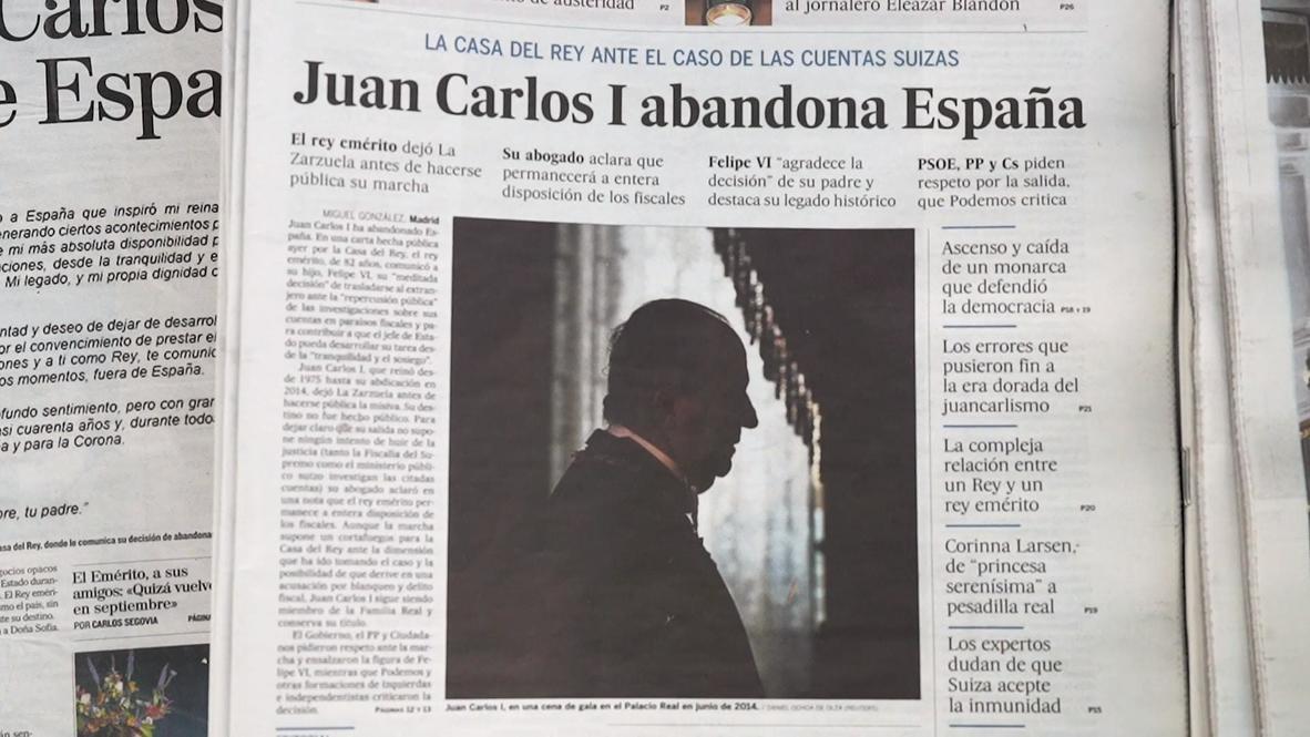 """España: """"Ya era hora de que saliera del país"""" - residentes opinan sobre la marcha de Juan Carlos I"""