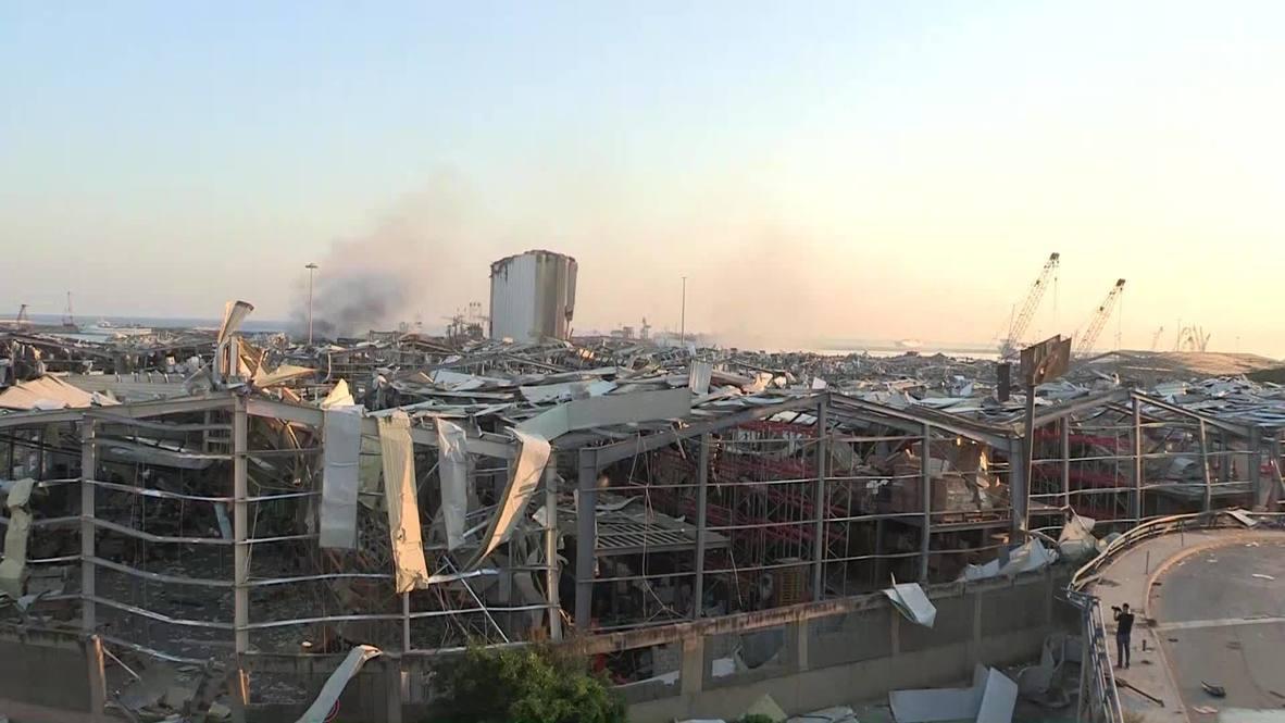 لبنان: شاهد آثار الانفجارات الهائلة التي هزت بيروت