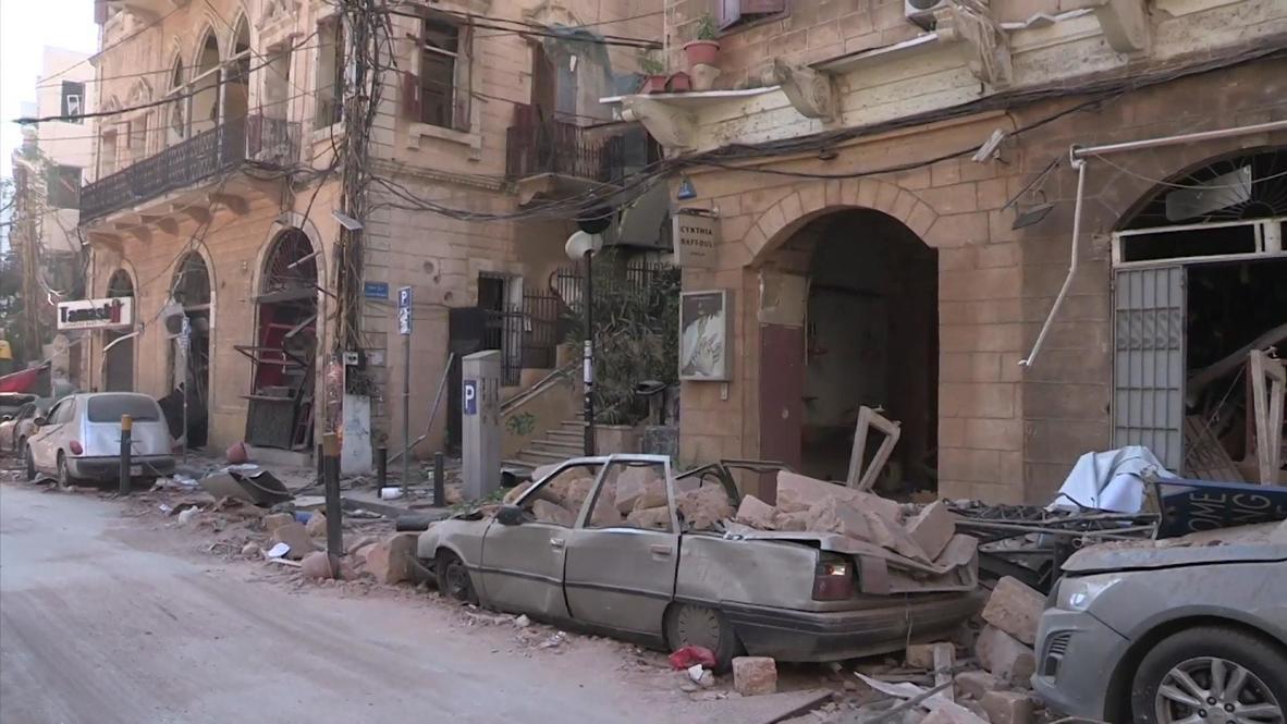 """لبنان: رئيس بلدية بيروت يقول """"لن نيأس"""" مع بدء أعمال إزالة الركام بعد الانفجارات"""