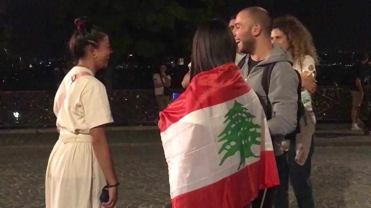 France: Paris's Lebanese community hold vigil to honour Beirut blast victims
