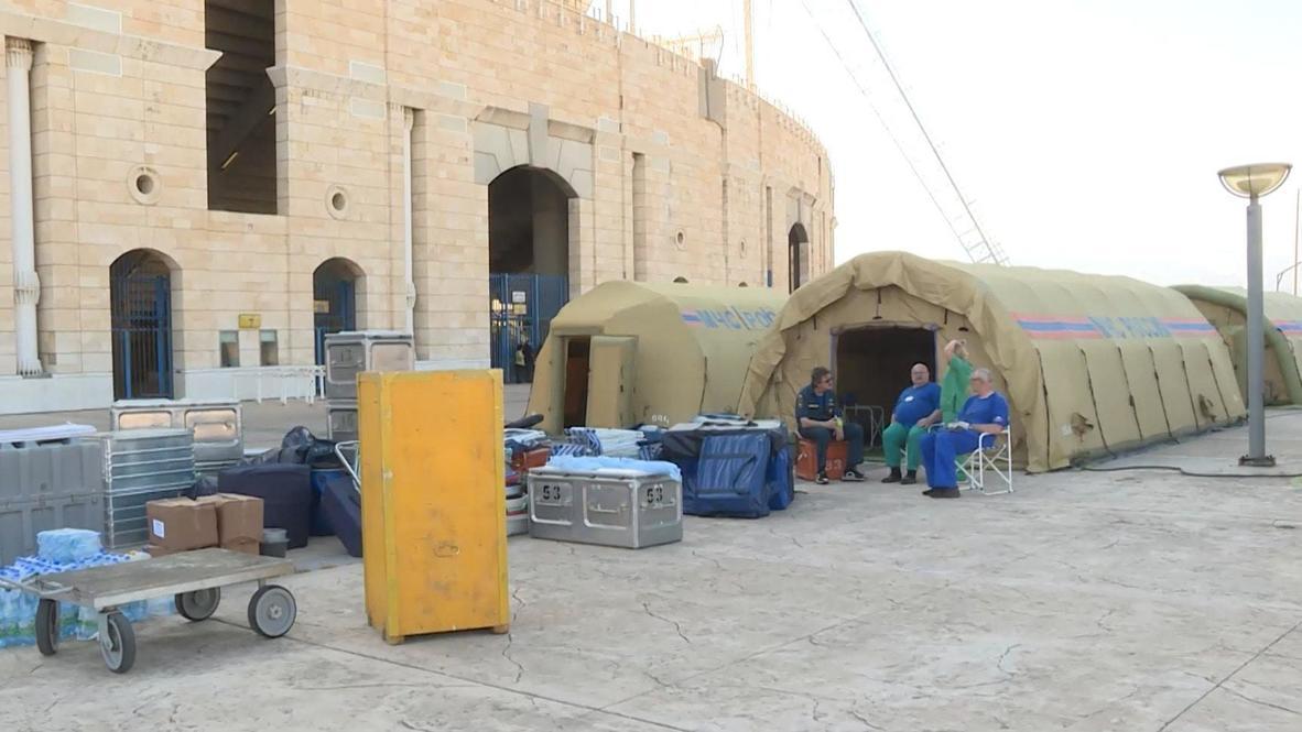 لبنان: وزارة الطوارئ الروسية تقيم مشفى متنقلا في بيروت
