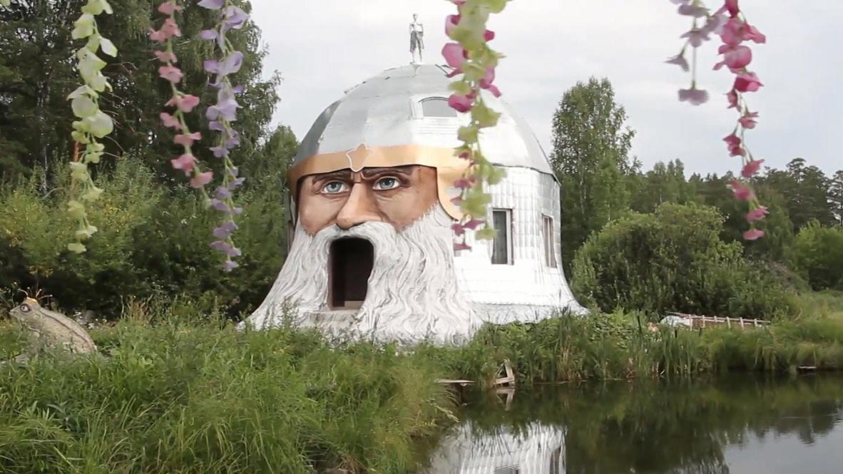 """""""Лучше сказок нет ничего в мире"""". Житель Миасса построил дом в виде огромной головы былинного богатыря Святогора"""