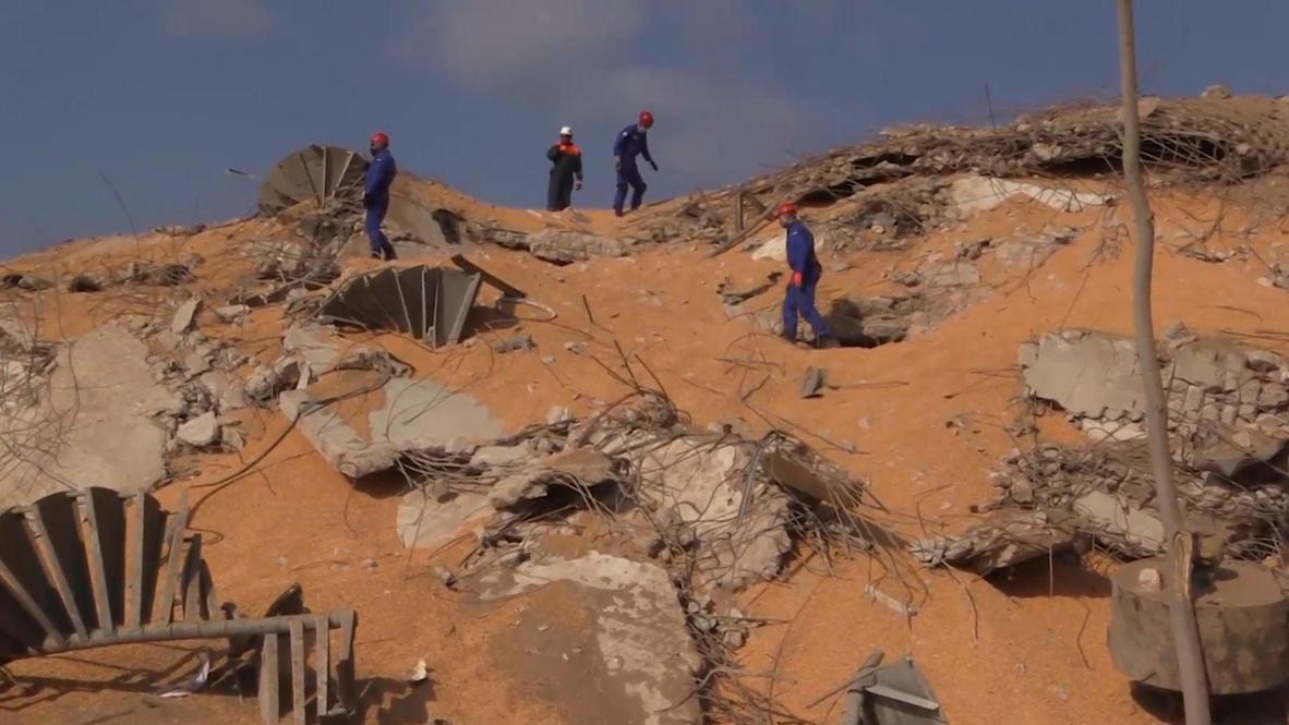 Ливан: Сотрудники МЧС России проводят поисково-спасательные работы в Бейруте