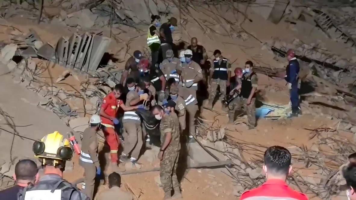 Ливан: Группа российских специалистов продолжает поисково-спасательную операцию в Бейруте
