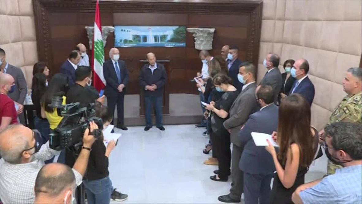 لبنان: عون لا يستبعد فرضية الصاروخ ويؤكد طلب مساعدة فرنسا لتحديد سبب الانفجارات