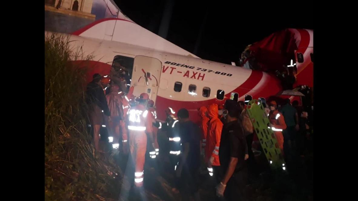 India: Rescue crews search for survivors of Kerala plane crash *STILLS*