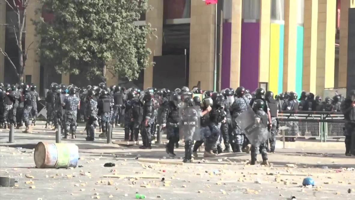 Líbano: Protestas se vuelven violentas en Beirut y dejan decenas de heridos