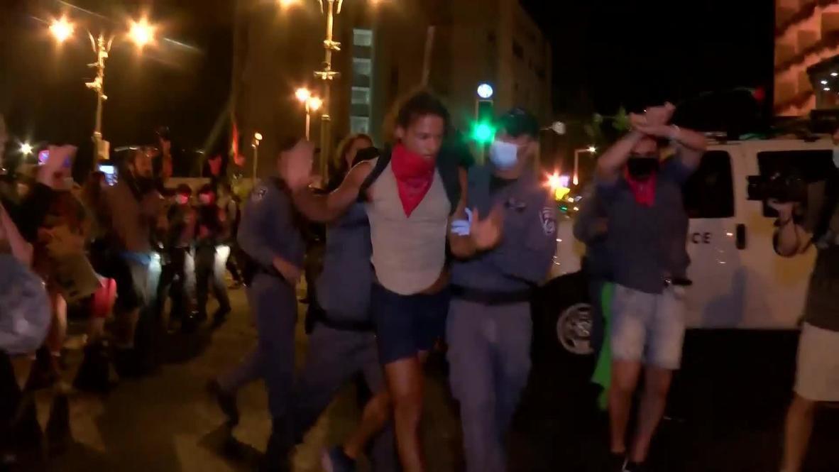 Israel: Policía detiene a manifestantes en el exterior de la residencia de Netanyahu en Jerusalén