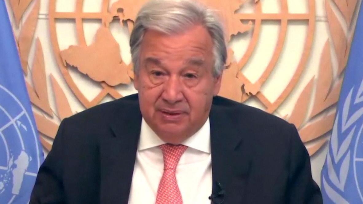 """الأمم المتحدة: غوتيريش يصف انفجارات بيروت بـ """"الكارثة الكبيرة"""""""
