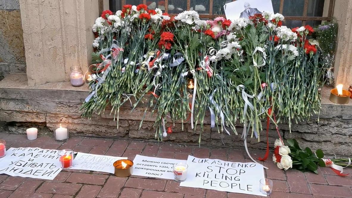 Россия: Жители Петербурга вышли на акцию солидарности с протестующими в Белоруссии