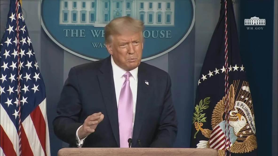 """EE.UU.: Trump se muestra """"un poco sorprendido"""" por la elección de Kamala Harris como su segunda"""