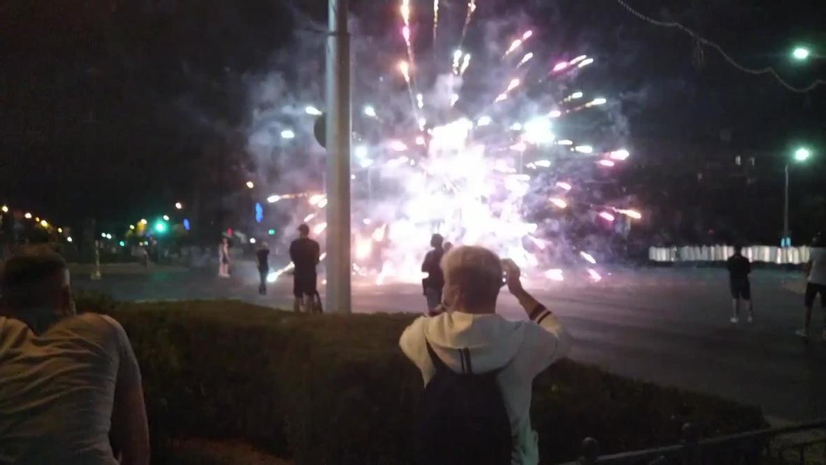 Bielorrusia: El Gobierno prohíbe la venta de pirotecnia tras las violentas manifestaciones poselectorales