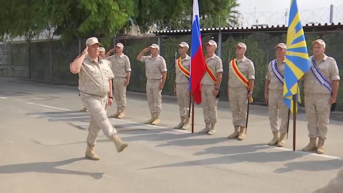 Сирия: На российской авиабазе Хмеймим в День ВВС нагридили 29 летчиков за отличия в службе