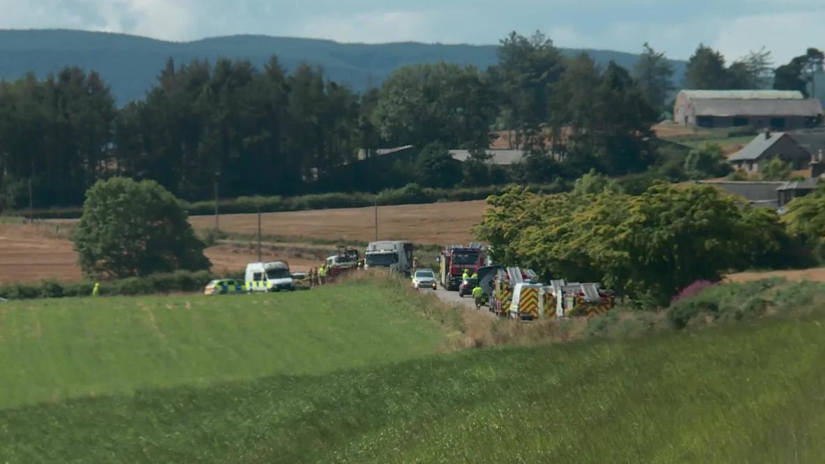 Reino Unido: Tres muertos y varios heridos tras descarrilamiento de un tren cerca de Stonehaven