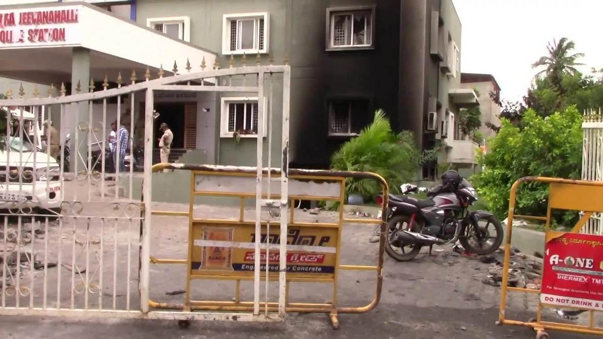 الهند: مقتل ثلاثة أشخاص في أعمال شغب اندلعت في بنغالور على خلفية منشور مسيء للنبي محمد