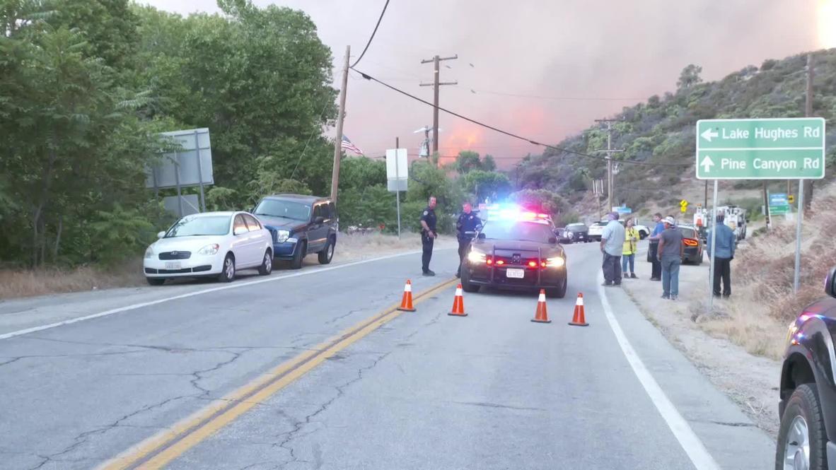 الولايات المتحدة الأمريكية: إرسال قوات الطوارئ إلى مقاطعة لوس أنجلوس مع احتدام حريق بحيرة هيوز