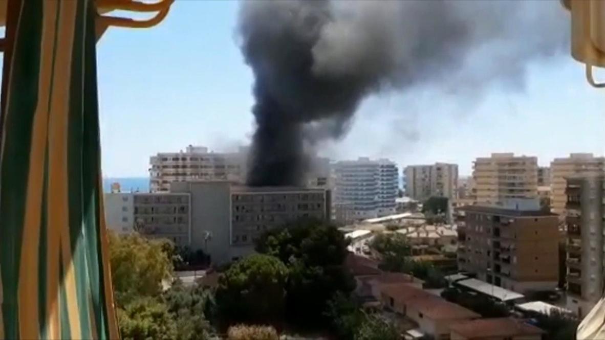España: Se declara un impresionante incendio en un hotel de Benicassim