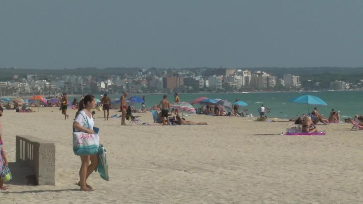 Spain: Mallorca beaches quiet as COVID-19 cases increase despite restrictions