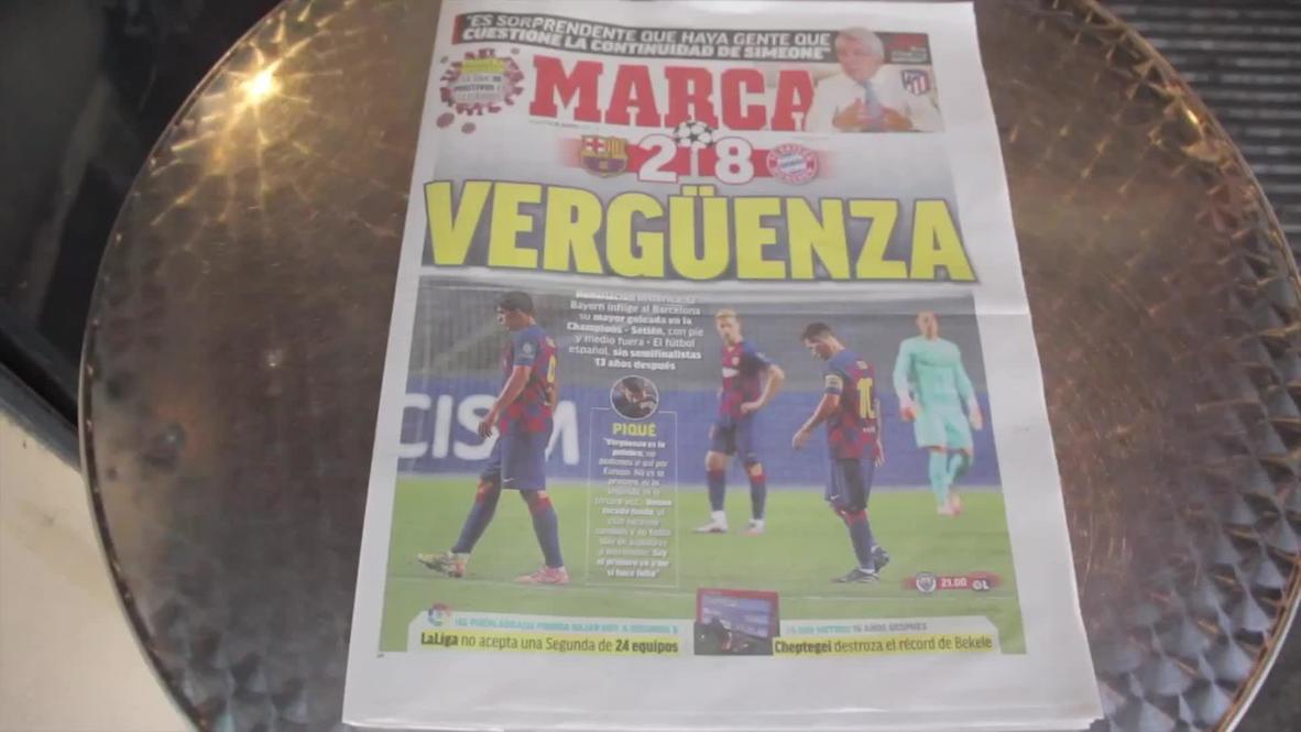 España: Hinchas hablan sobre la derrota del Barcelona ante el Bayern