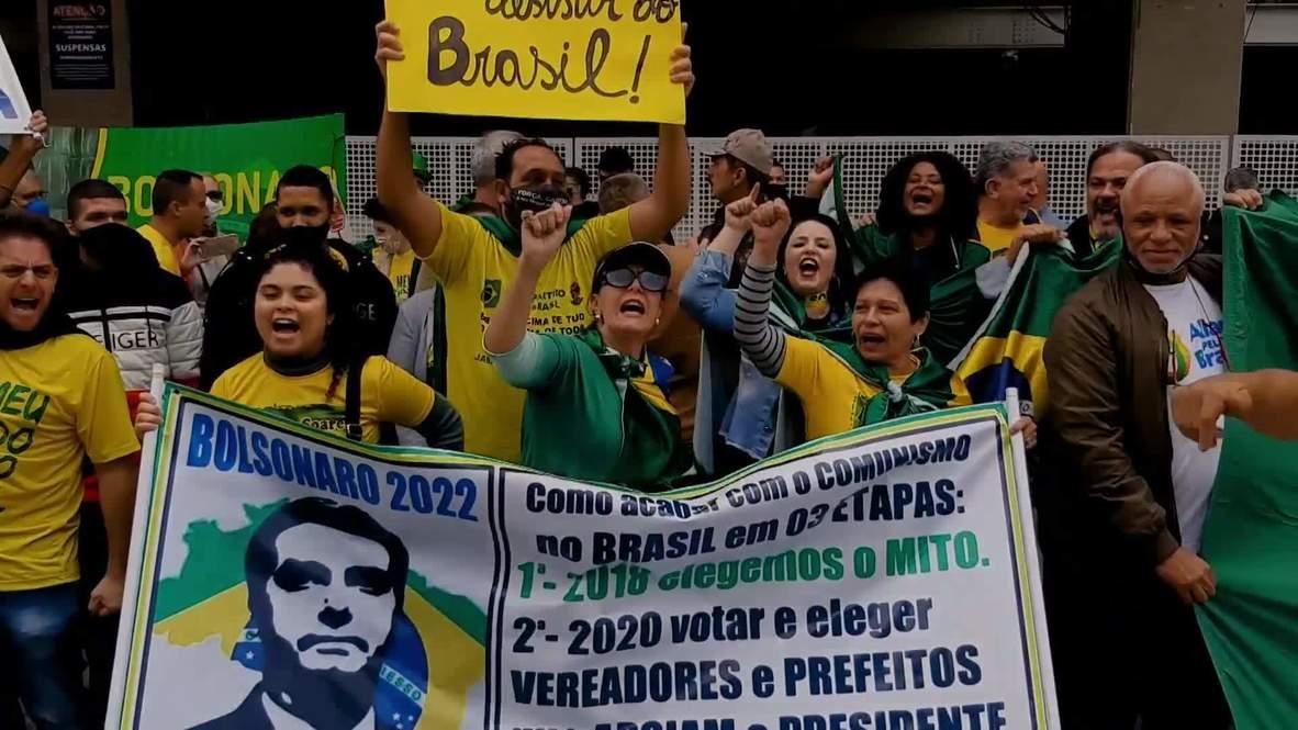 Brasil: Grupos de derecha protestan en Sao Paulo en contra del comunismo