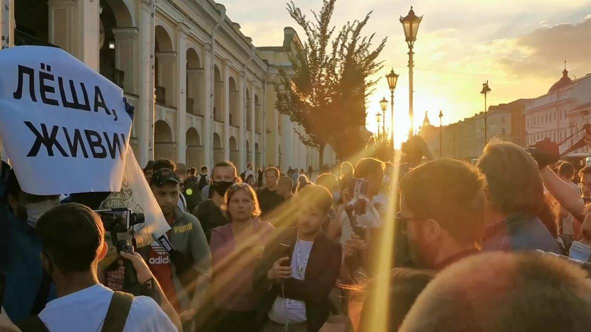 Rusia: Partidarios de Navalny se manifiestan en Moscú y San Petersburgo