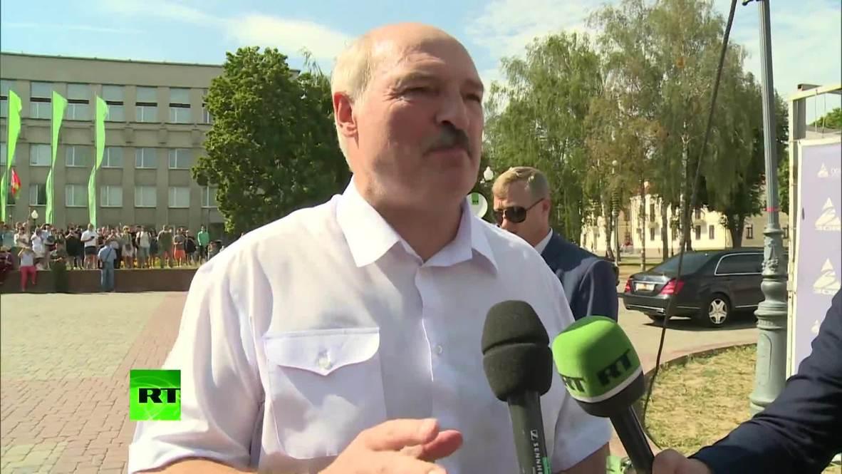 """Белоруссия: """"Нас травят здесь, чтобы броситься потом на Россию"""" – Лукашенко после митинга сторонников в Гродно *ЭКСКЛЮЗИВ* *ПАРТНЕРСКИЙ КОНТЕНТ*"""
