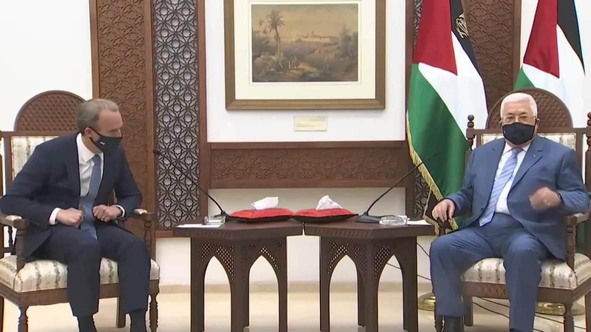 """دولة فلسطين: عباس ينتقد جهود التطبيع مع إسرائيل باعتبارها """"وهم السلام مقابل السلام"""""""