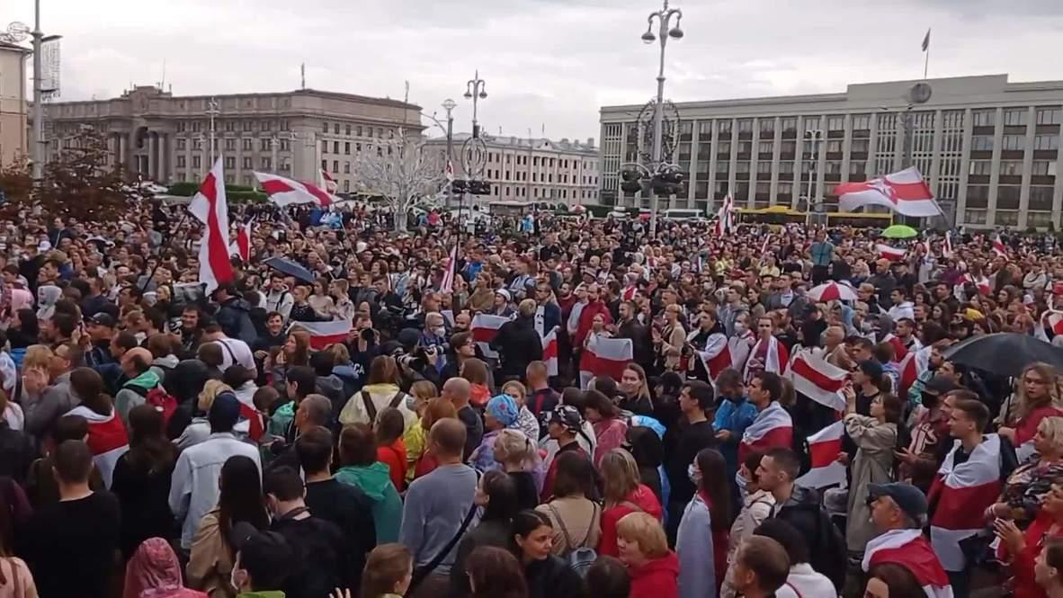 Bielorrusia: Miles de personas protestan contra Lukashenko en Minsk