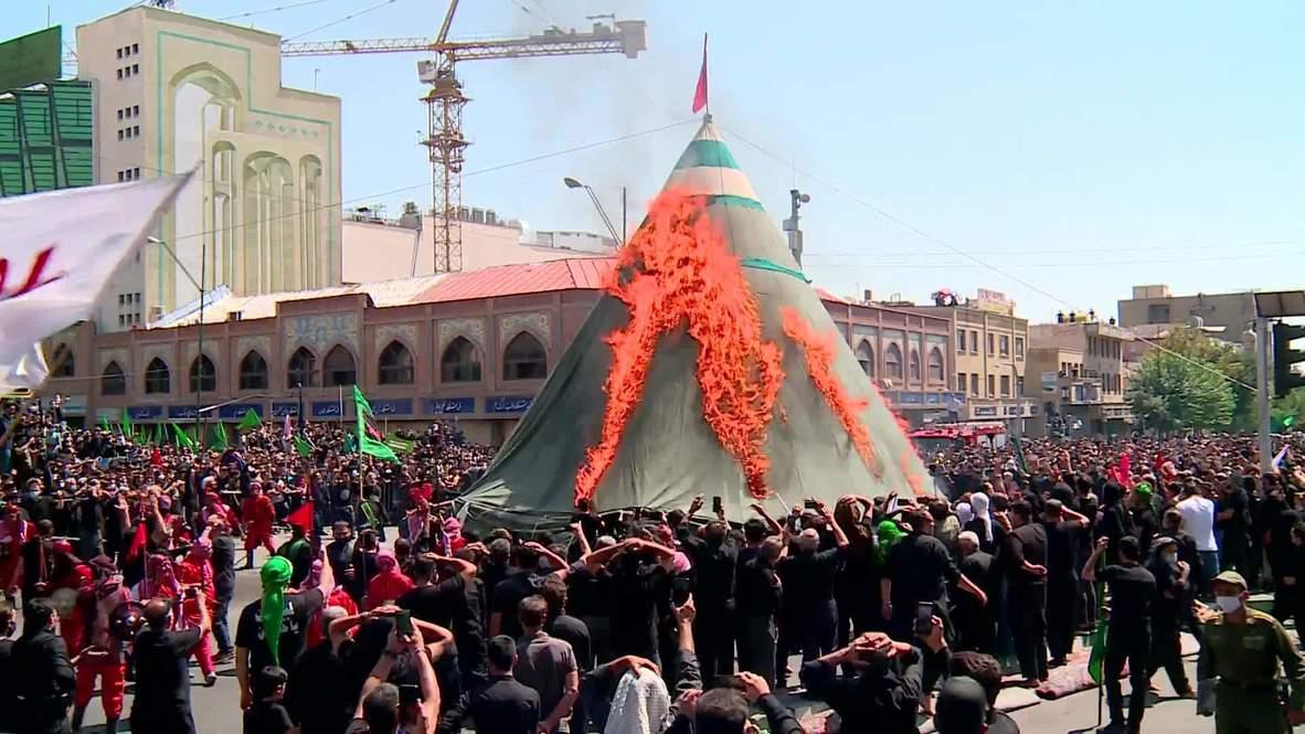 Irán: Cientos de fieles asisten a la conmemoración de la Ashura en Teherán