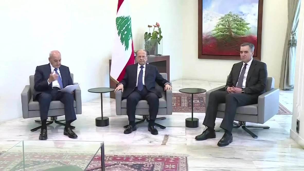 لبنان: رئيس الحكومة المكلف مصطفى أديب يلتقي الرئيس عون في القصر الجمهوري