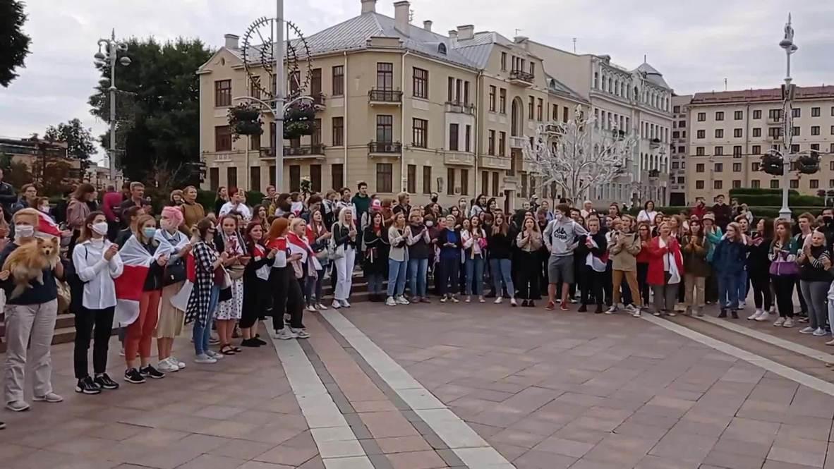 Белоруссия: Протестная акция оппозиции вновь прошла на площади Независимости в Минске