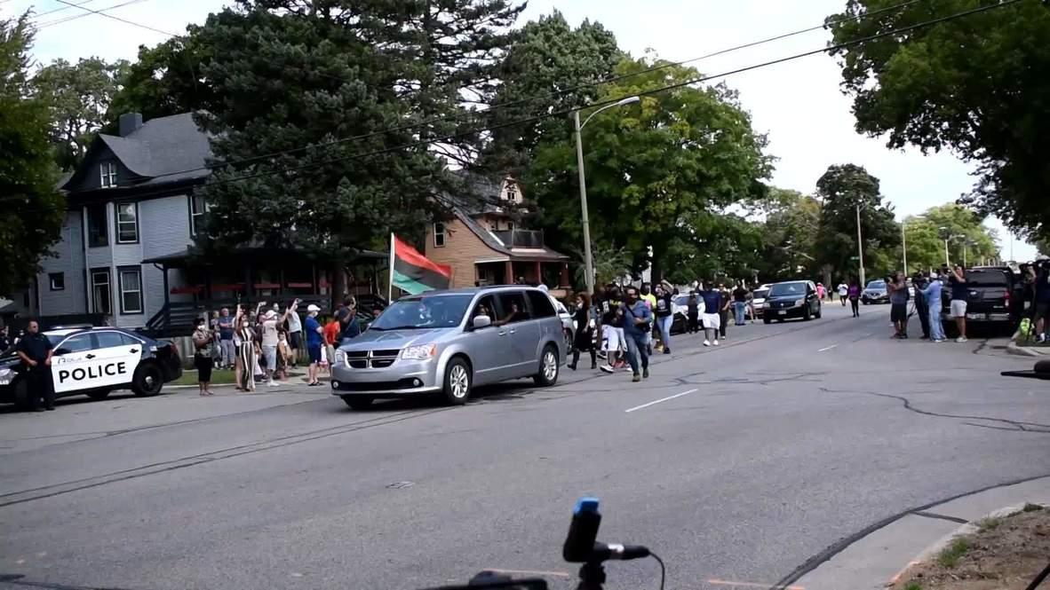 USA: BLM protesters gather in Kenosha ahead of Biden's arrival