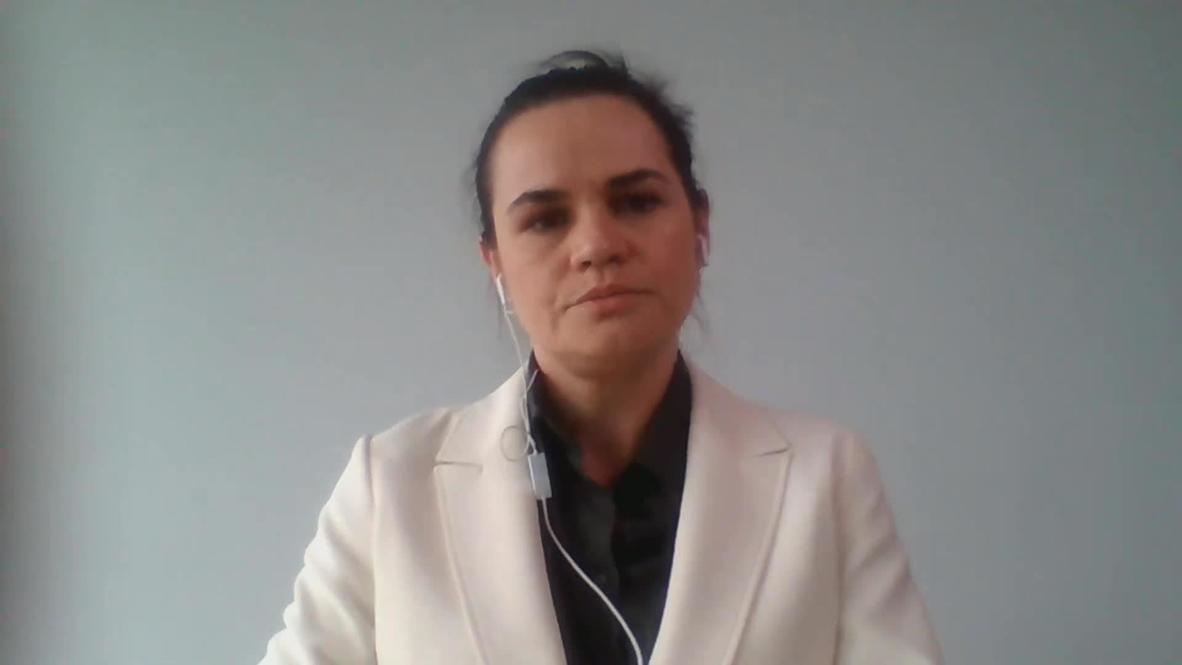 ONU: Tijanóvskaya insta al mundo a presionar a Lukashenko por la represión en las manifestaciones