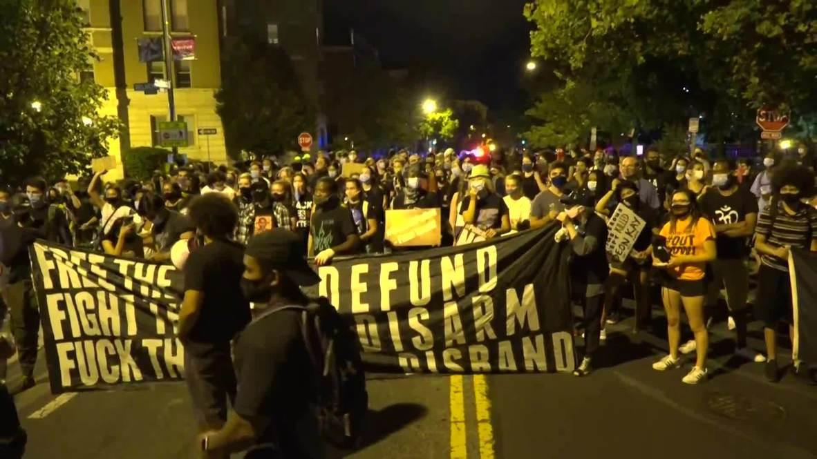 EE.UU.: Cientos de personas protestan en Washington DC contra la muerte de Deon Kay a manos de la Policía