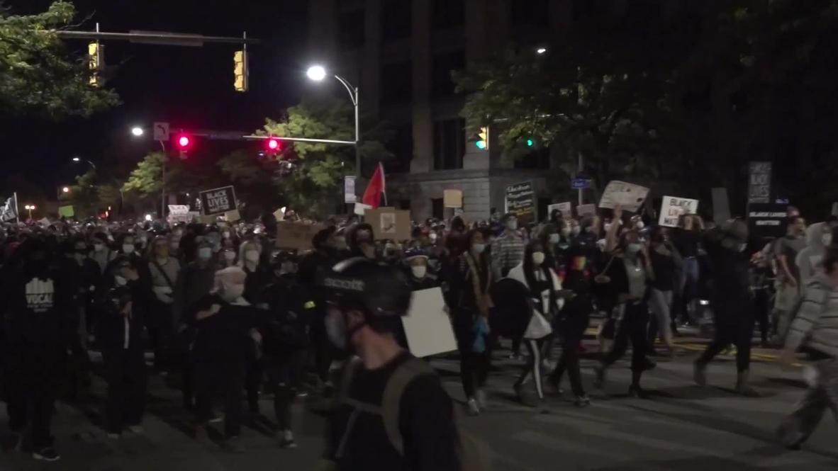USA: Protests over killing of Daniel Prude continue in Rochester