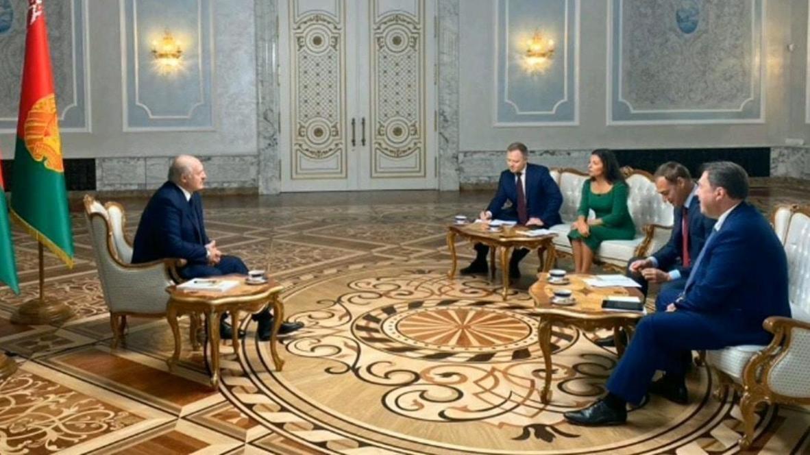Belarus: Lukashenko speaks to Russian media outlets *STILLS*
