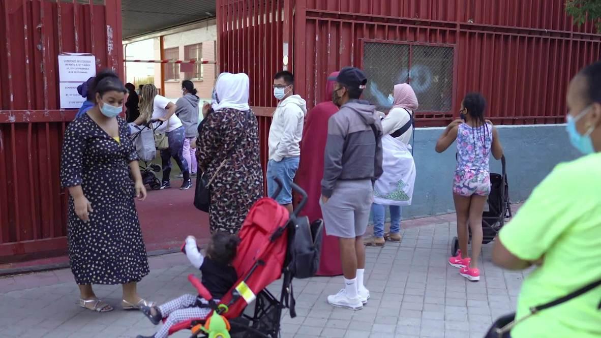 España: 400.000 niños comienzan el curso escolar en Madrid en medio de la pandemia de coronavirus