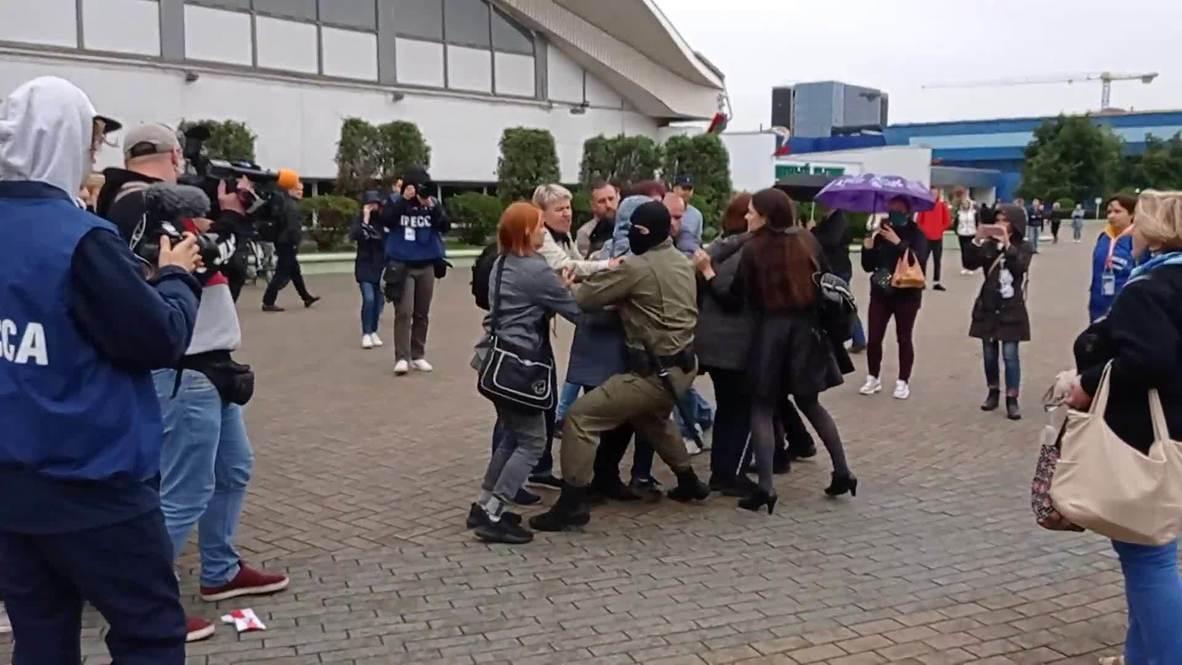 Белоруссия: В Минске на акции в поддержку Марии Колесниковой прошли задержания