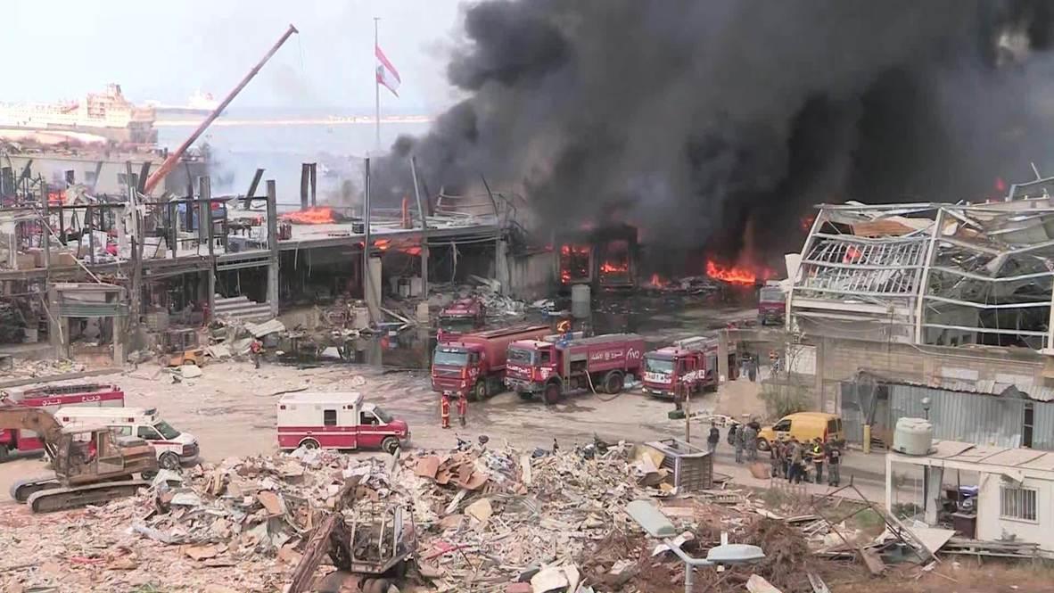 Líbano: El puerto de Beirut sufre un incendio un mes después de las explosiones que sacudieron la ciudad