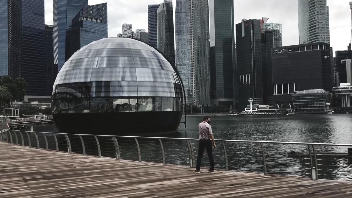 Singapur: Apple inaugura tienda esférica flotante en el distrito comercial
