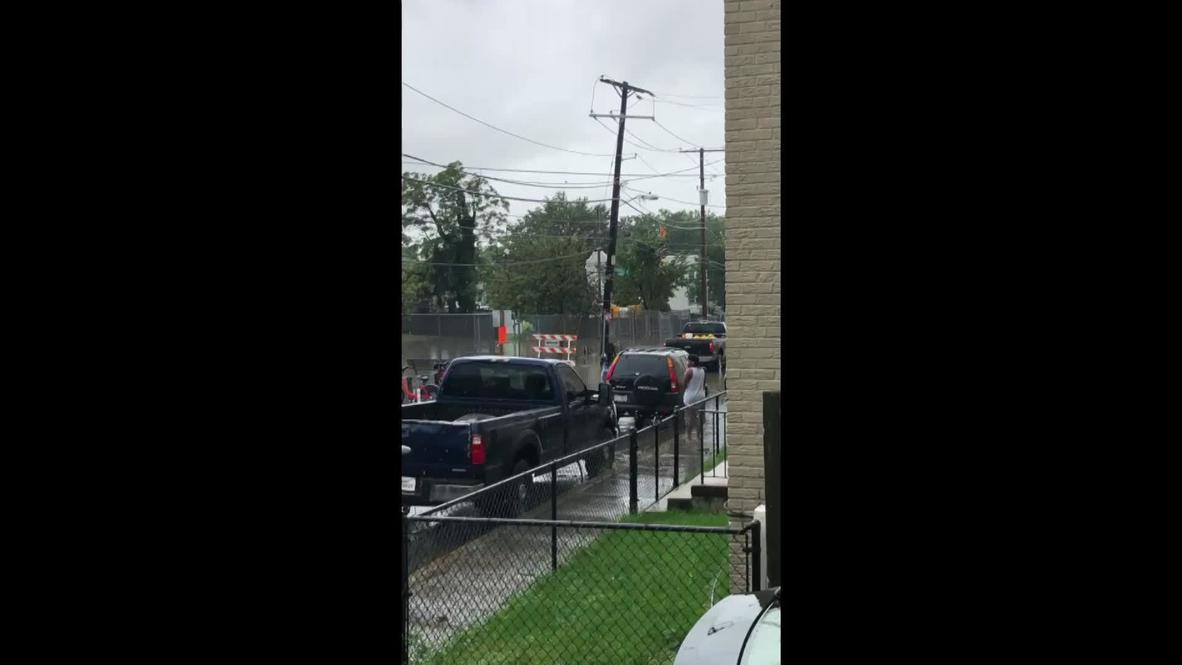 EE.UU.: Inundaciones en las calles de Washington D.C. tras las lluvias torrenciales