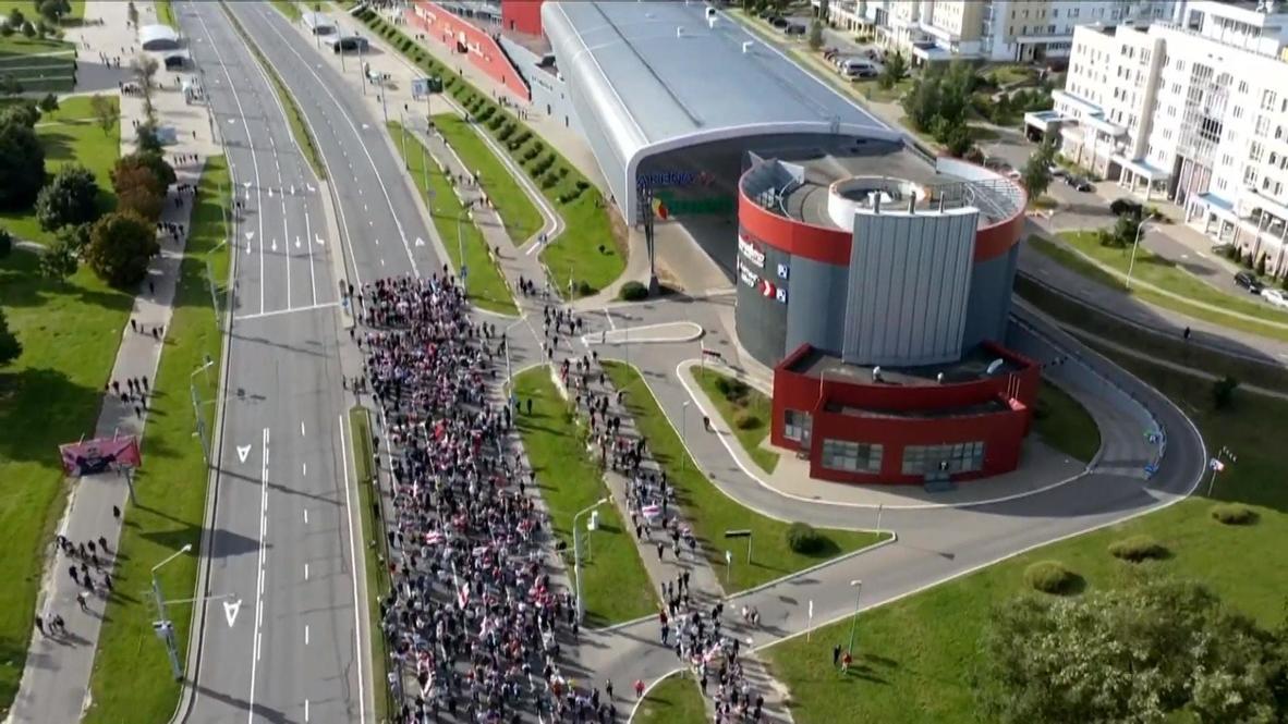 """Белоруссия: """"Марш героев"""" запечатлели с высоты птичьего полета"""
