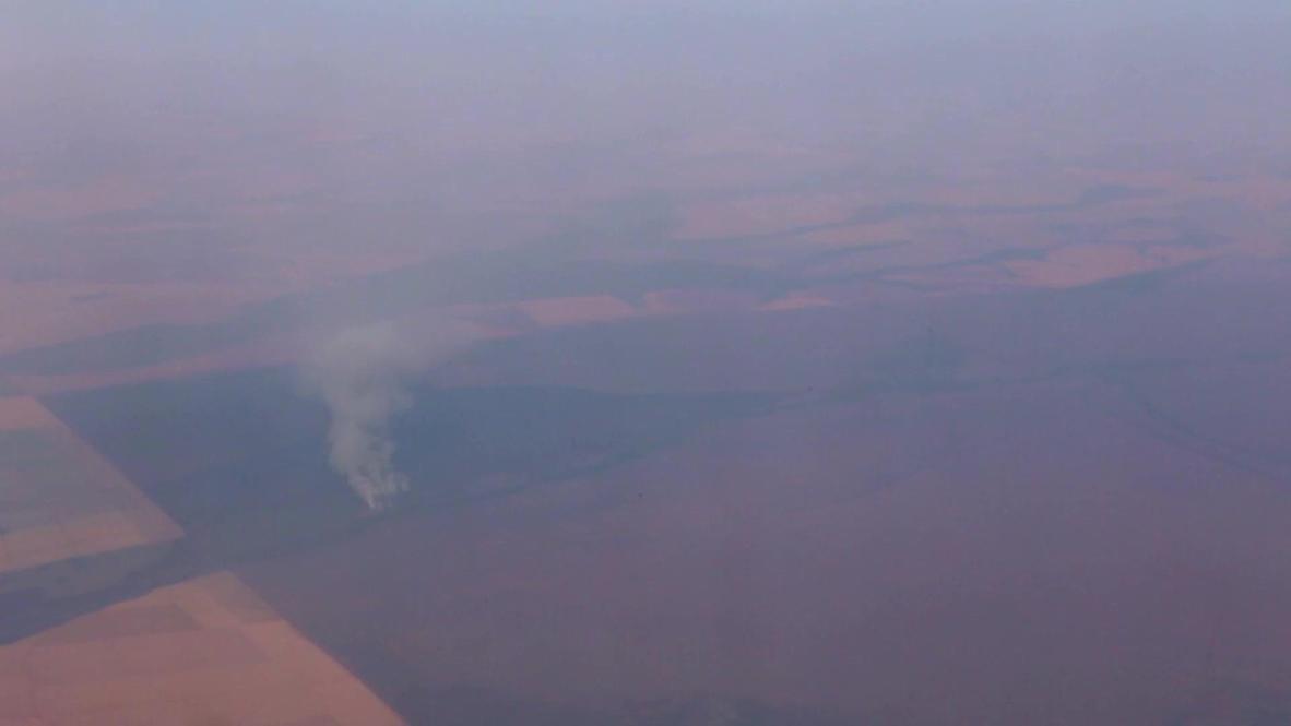 Brasil: Imágenes aéreas muestran los incendios forestales en la región del Pantanal de Brasil