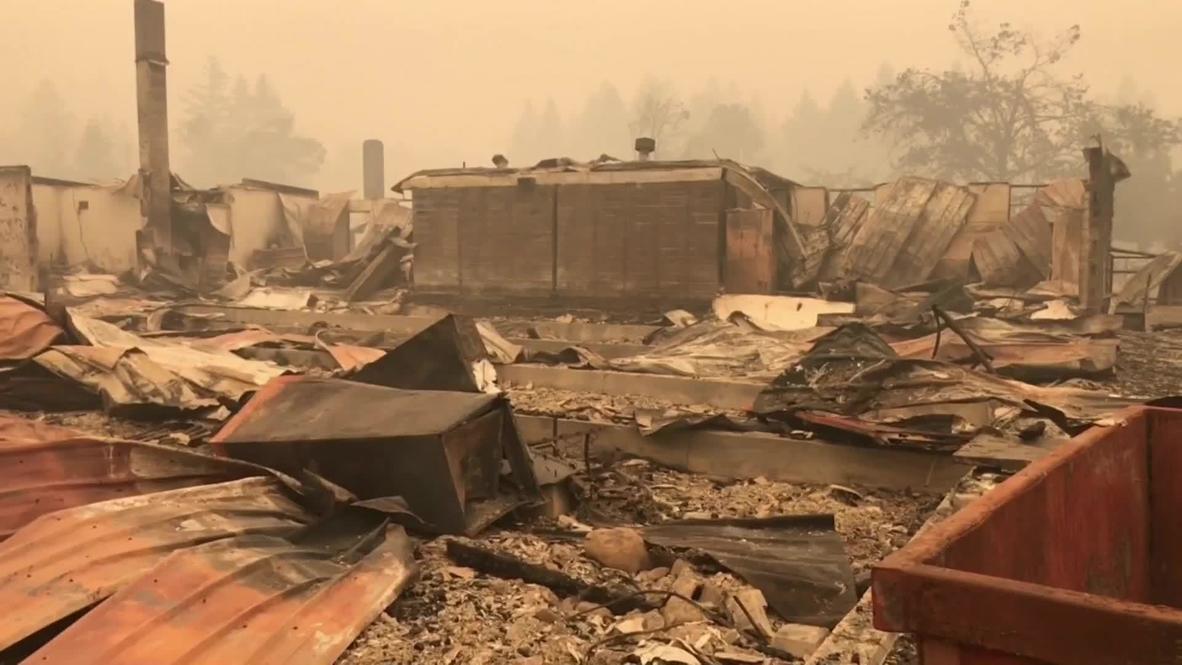 الولايات المتحدة الأمريكية: حرائق الغابات في أوريغون تخلف دماراً هائلاً في بلدة غيتس