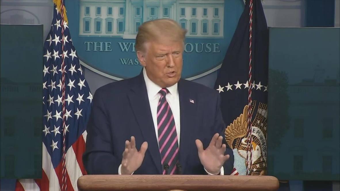 """الولايات المتحدة الأمريكية: ترامب يعلن التوصل للقاحات كوفيد-19 ويتعهد بتوفيره """"لكل أمريكي بحلول أبريل"""""""
