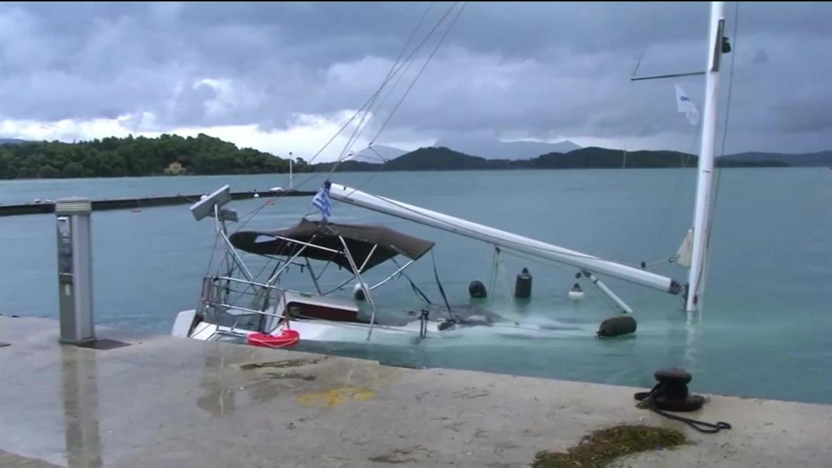 Greece: Rare Mediterranean storm Ianos batters Corfu, causing floods
